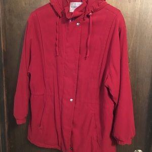 90s red coat